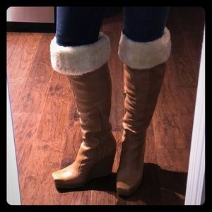 Jessica Simpson vegan leather over the knee boots